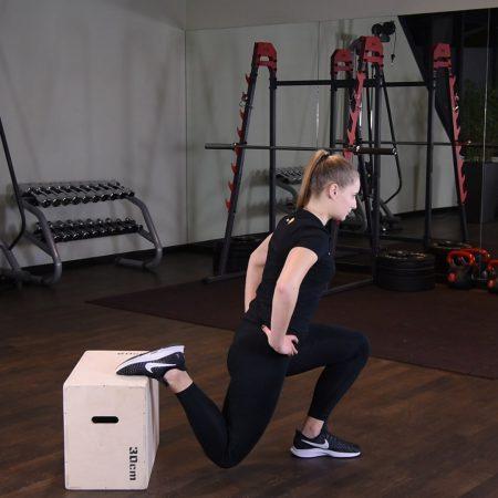 Ćwiczenie Przysiad bułgarski - just be fit