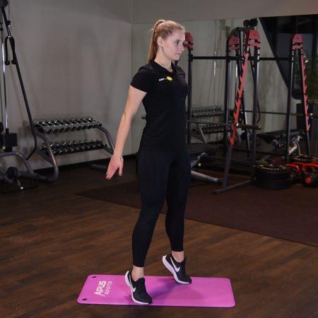 Ćwiczenie Przysiad z wyjściem na palce - just be fit