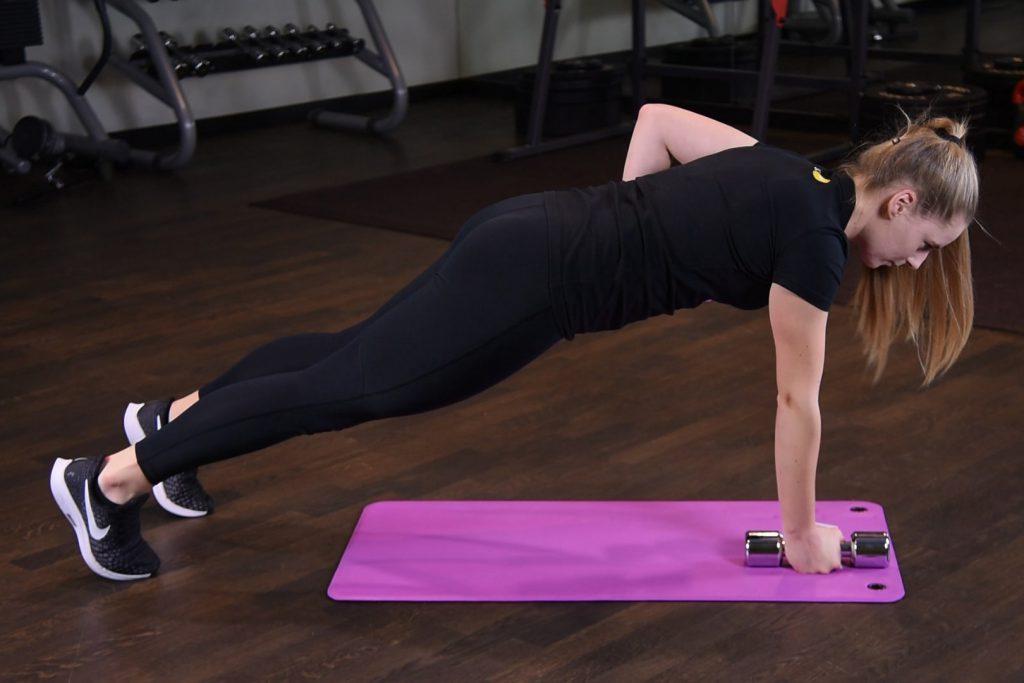 Ćwiczenie Renegade row - just be fit