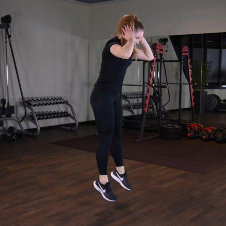 Ćwiczenie Burpee z wyskokiem - just be fit