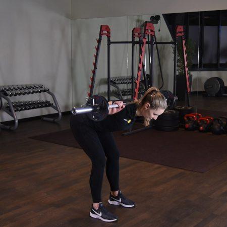 Ćwiczenie Dzień dobry ze sztangą - just be fit