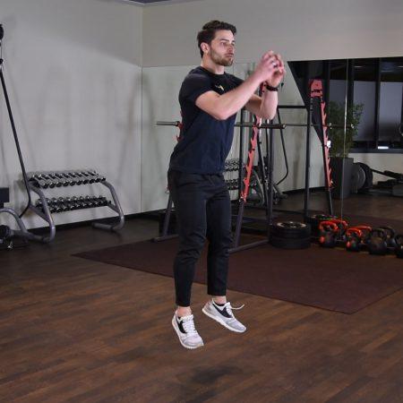 Ćwiczenie Przysiad z wyskokiem - just be fit