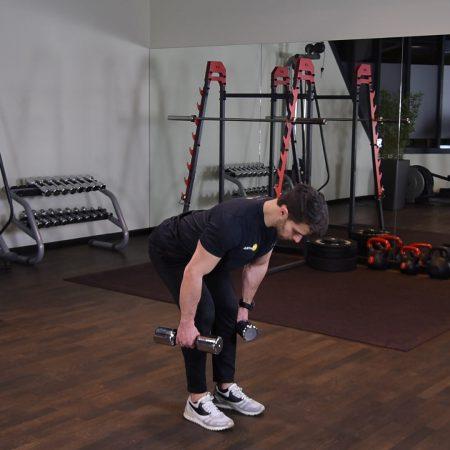 Ćwiczenie RDL z hantlami - just be fit