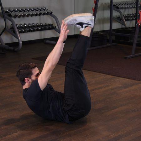 Ćwiczenie Scyzoryki w leżeniu tyłem
