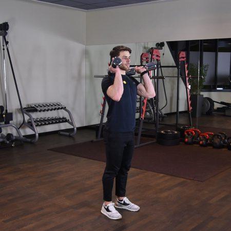 Ćwiczenie thruster z hantlami - just be fit