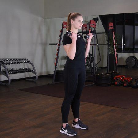 Uginanie ramion z hantlami z rotacją - just be fit