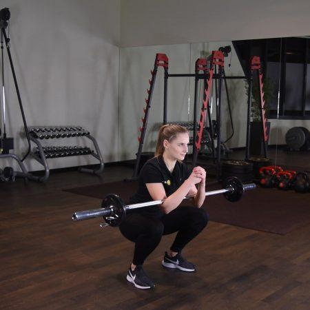 Zercher squat - przysiad - just be fit