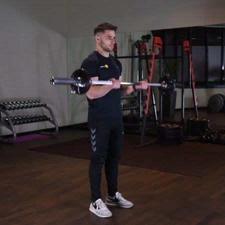 21 ze sztangą na biceps