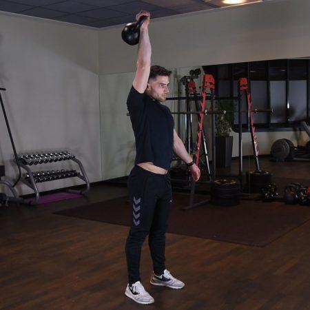 Ćwiczenie Kettlebell push press - just be fit