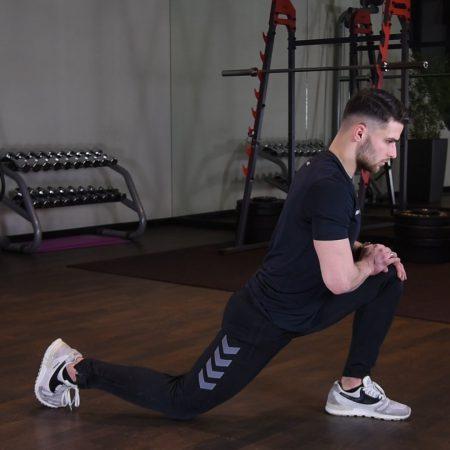 Ćwiczenie Klęk jednonóż z pogłębieniem - just be fit