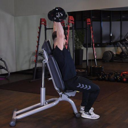 Wyciskanie sztangi nad głowę siedząc - just be fit