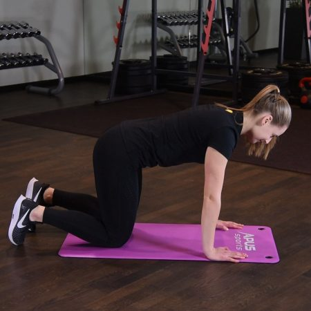 Unoszenie ramion naprzemiennie w podporze przodem - just be fit